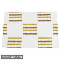 Line Design Fused Table Runner (set of 1) or Placemats (set of 4)