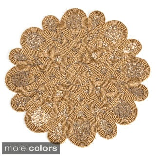 Top Beaded Design Placemats (set of 4) - Free Shipping Today  HD38