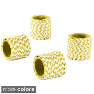 Braided Design Napkin Ring (set of 4)
