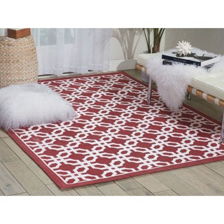 Waverly Art House Groovy Grille Cordial Area Rug by Nourison (5' x 7')