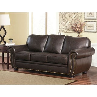 Abbyson Richfield Top Grain Leather Sofa