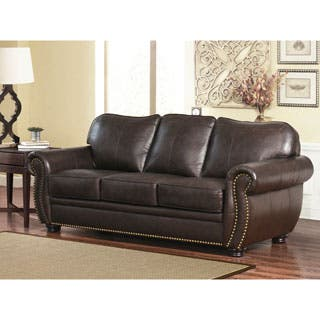 living room leather furniture. Abbyson Richfield Top Grain Leather Sofa Living Room Furniture Sets For Less  Overstock com