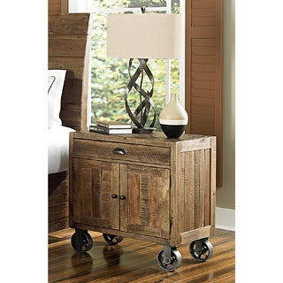 Magnussen B2375 River Ridge Wood Door Nightstand with Casters