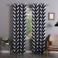 Aurora Home Chevron Print Room Darkening Grommet 96-inch Curtain Pair