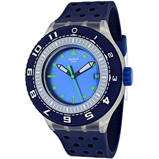 Swatch Men's Originals SUUK403 Blue Rubber Swiss Quartz Watch