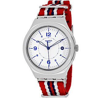 Swatch Men's Irony YWS407 Multicolor Nylon Swiss Quartz Watch