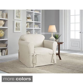 Merveilleux Tailor Fit Relaxed Fit Cotton Duck Cushion Chair Slipcover