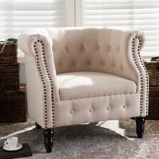 Baxton Studio Neo-Classics Chesterfield Chair