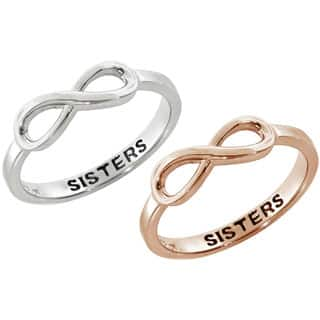 Eternally Haute Sisters Sentiment Infinity Ring|https://ak1.ostkcdn.com/images/products/P16696959.jpg?impolicy=medium