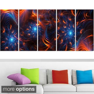Large 'Fire & Ice' Gallery-wrapped Canvas