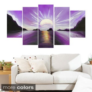 Brilliant Sunset' 5-piece Gallery-wrapped Canvas Print