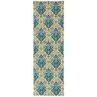 Waverly Treasures Dress Up Damask Blue Jay Area Rug by Nourison (2'6 x 8')