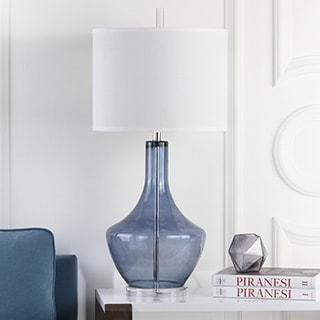 Safavieh Lighting 33-inch Mercury Light Blue Table Lamp