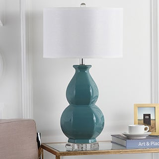 Safavieh Lighting 30.25-inch Juniper Egg Blue Table Lamp