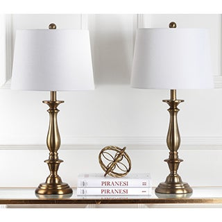 Safavieh Lighting 29-inch Brighton Candlestick Gold Table Lamp (Set of 2)