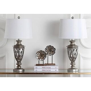 Safavieh Lighting 28.5-inch Byron Urn Antiqued Silver Table Lamp (Set of 2)