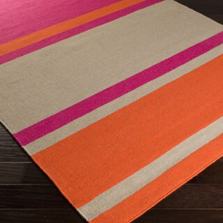Flatweave Bron Striped Wool Rug (2' x 3')