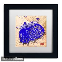 Roderick Stevens 'Snap Purse Blue' Framed Matted Art