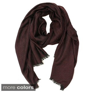 Le Nom Diamond and Stripe Scarf