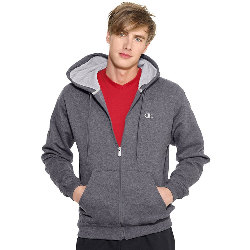 Champion Men's Eco Fleece Full-zip Hoodie (Big & Tall Sizes Included)