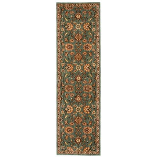 kathy ireland Ancient Times Ancient Treasures Teal Area Rug by Nourison (2'2 x 7'6)