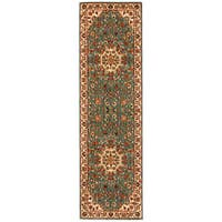 kathy ireland Ancient Times Palace Teal Area Rug by Nourison - 2'2 x 7'6