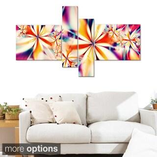 Crystalize' Pink Floral Canvas Art Set