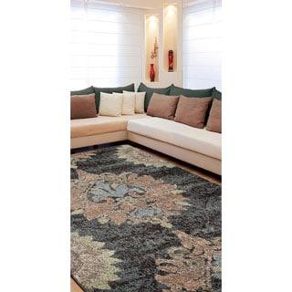 Carolina Weavers Grand Comfort Collection Curtis Grey Area Rug (5'3 x 7'6)