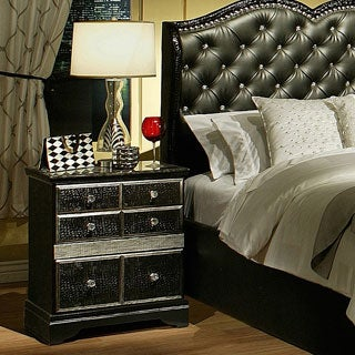 Sandberg Furniture Hollywood Glamour 2-drawer Nightstand