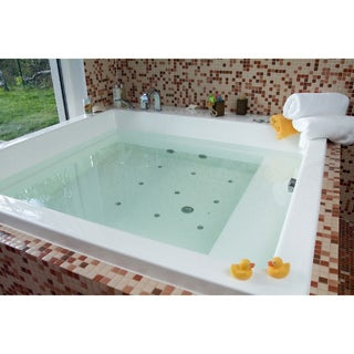 Aquatica Lacus-Wht Drop-In Relax Air Massage Bathtub