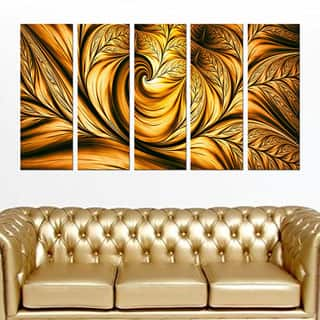Abstract 'Golden Dream' Gallery-wrapped Wall Print Art|https://ak1.ostkcdn.com/images/products/P16722797q.jpg?impolicy=medium