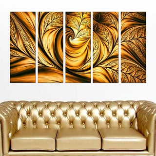 Abstract 'Golden Dream' Gallery-wrapped Wall Print Art