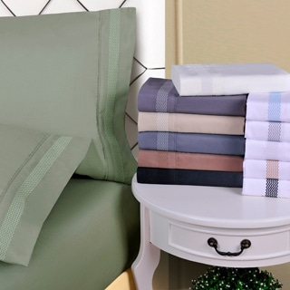 Superior Wrinkle Resistant Embroidered Peaks Sheet Set With Gift Box