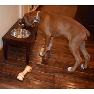 Raised Wooden Pet Feeder Diner Set