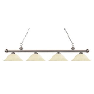 Z-Lite Riviera Brushed Nickel Golden Mottle Billiard Fixture