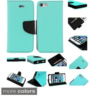 INSTEN Premium PU Leather Flip Wallet Cover Case with Card Slot For Apple iPhone 5/ 5S/ SE