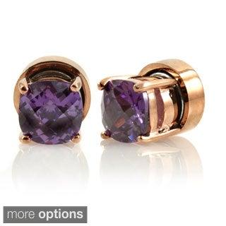 Cubic Zirconia Non Pierced Magnetic Earrings