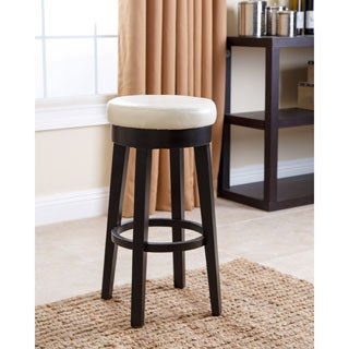 Abbyson Camila 26 inch Ivory Bonded Leather Counter Stool
