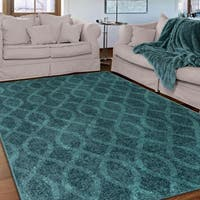 Carolina Weavers Brighton Collection Coil Blue Area Rug