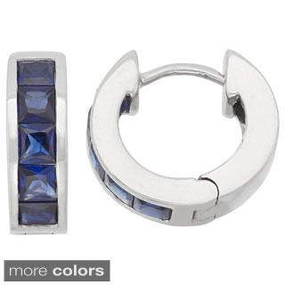 Gioelli Sterling Silver Princess-Cut Created Gemstones endless Earrings