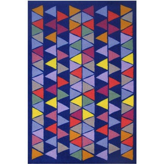 """Pyramid Party Blue Accent Rug - 3'3"""" x 4'8"""""""
