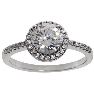 Eternally Haute 2 1/2ct TGW Cubic Zirconia Halo Ring