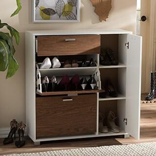 Baxton Studio Chateau Storage Shoe Black Cabinet
