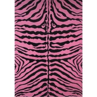 "Zebra Pink Accent Rug - 1'6"" x 2'4"""