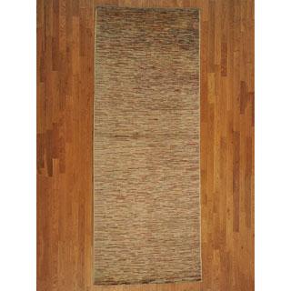 Gallery Size 100-percent Wool Modern Gabbeh Rug (4'5 x 11'6)