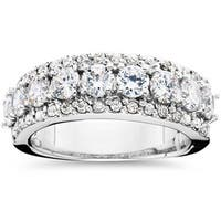 14k White Gold 2 1/10ct TDW Diamond Anniversary Ring