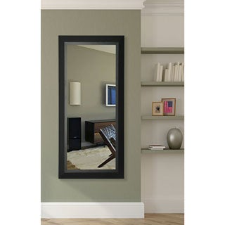 American Made Rayne Matte Black Floor Mirror - black