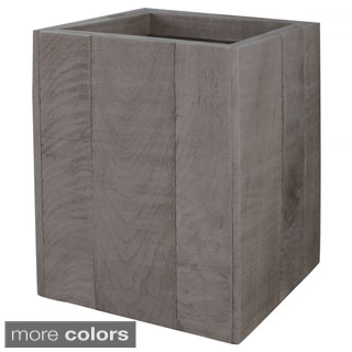 Lamont Home Wyatt Collection Wood Wastebasket