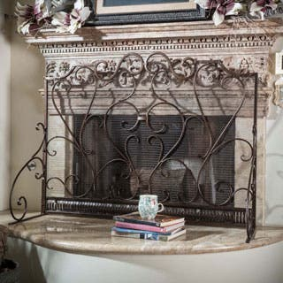 Christopher Knight Home Claridge Iron Fireplace Screen|https://ak1.ostkcdn.com/images/products/P16762756.jpg?impolicy=medium