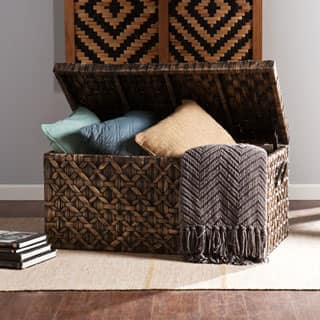 Harper Blvd Blackwashed Water Hyacinth Storage Trunk|https://ak1.ostkcdn.com/images/products/P16765503a.jpg?impolicy=medium